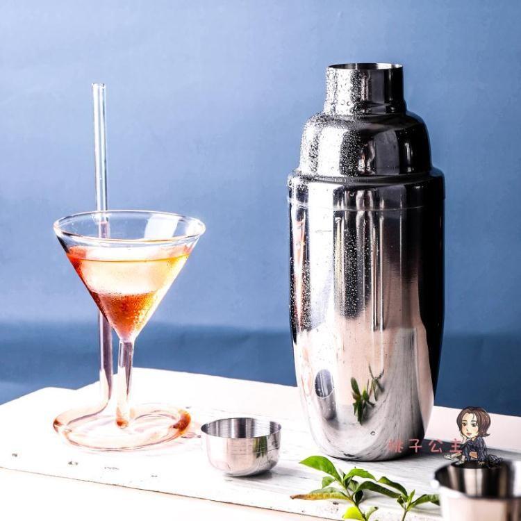 調酒器套裝 不銹鋼調酒器雪克杯調酒基酒套裝工具搖酒壺調酒壺搖酒壺T