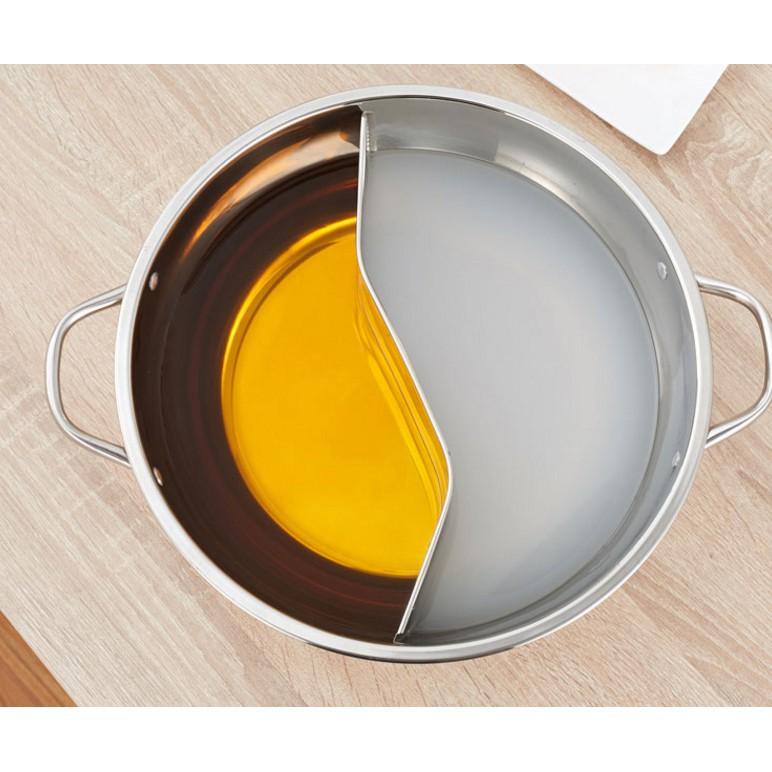 鴛鴦鍋火鍋盆加厚電磁爐專用鍋家用不銹鋼火鍋鍋湯鍋爐不串味涮鍋