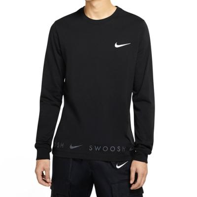 NIKE 上衣  長袖上衣 運動 慢跑 訓練 男款 黑 DA0336010 AS M NSW TEE LS SWOOSH