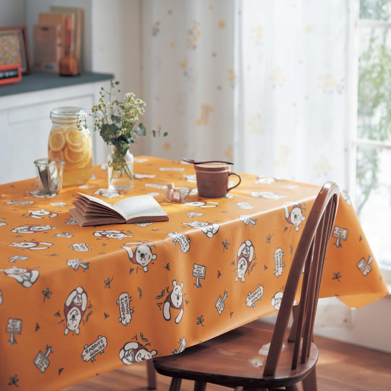 日本千趣會 - 迪士尼防潑水印花桌巾-小熊維尼
