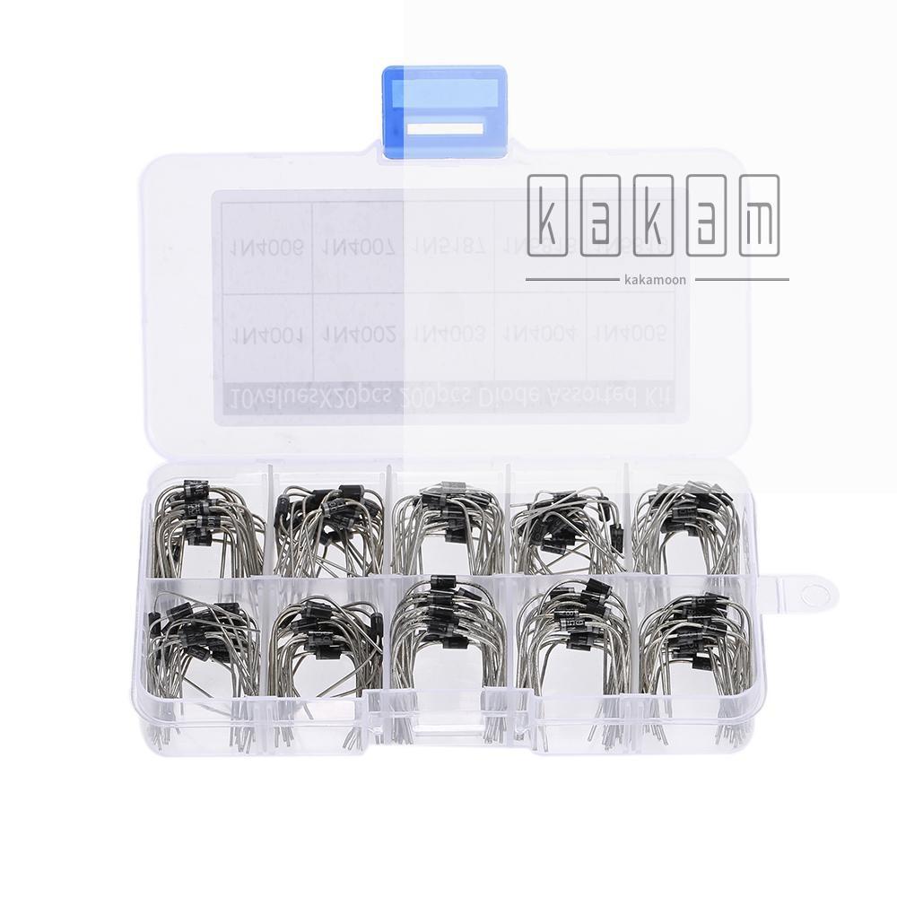 200PCS 二極管套裝1N4001 1N4002 1N4003 1N4004 1N4005 1N4006 1N4007