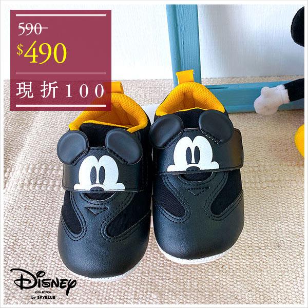 天藍小舖-迪士尼系列米奇款可愛大頭魔鬼氈寶寶學步鞋-單1款-$590【A27270151】