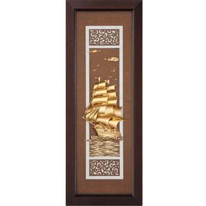 金箔畫 純金 *古典中國風系列*【一帆風順】...102x38cm外徑38x102cm