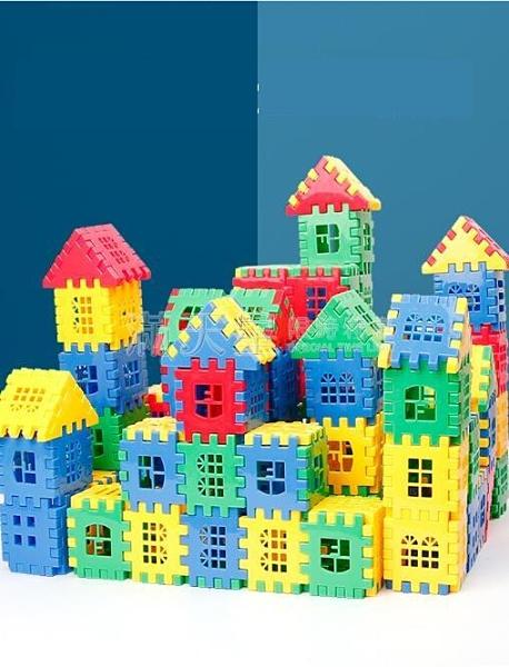 積木 男孩兒童積木拼圖益智拼裝玩具大顆粒房子動腦模型1-2歲智力開發 NMS滿天星