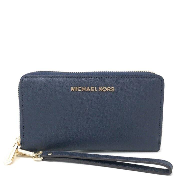 MICHAEL KORS 手機包 皮夾 十字紋防刮真皮 卡片夾 手機包 皮夾 手拿包 M64222 MK(現貨)