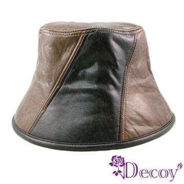 【Decoy】酷帥摩登*雙色皮革帽_L