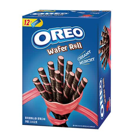 奧利奧捲心酥-草莓口味216g