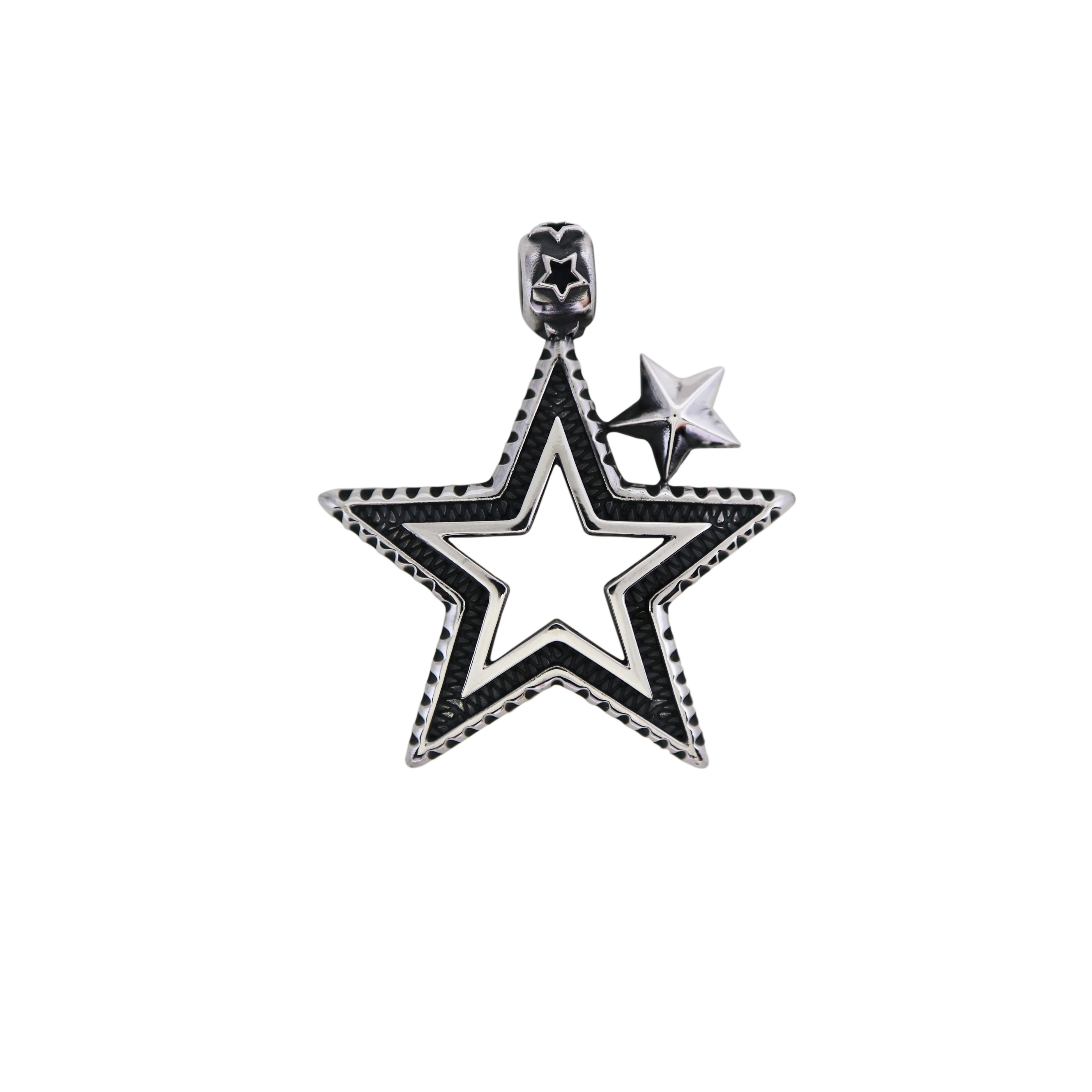 SMALL CUTOUT STAR SQUARED PENDANT  [USD $420]
