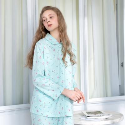 RoseMaid羅絲美-香水情緣全開釦長袖褲裝睡衣(恬靜藍)
