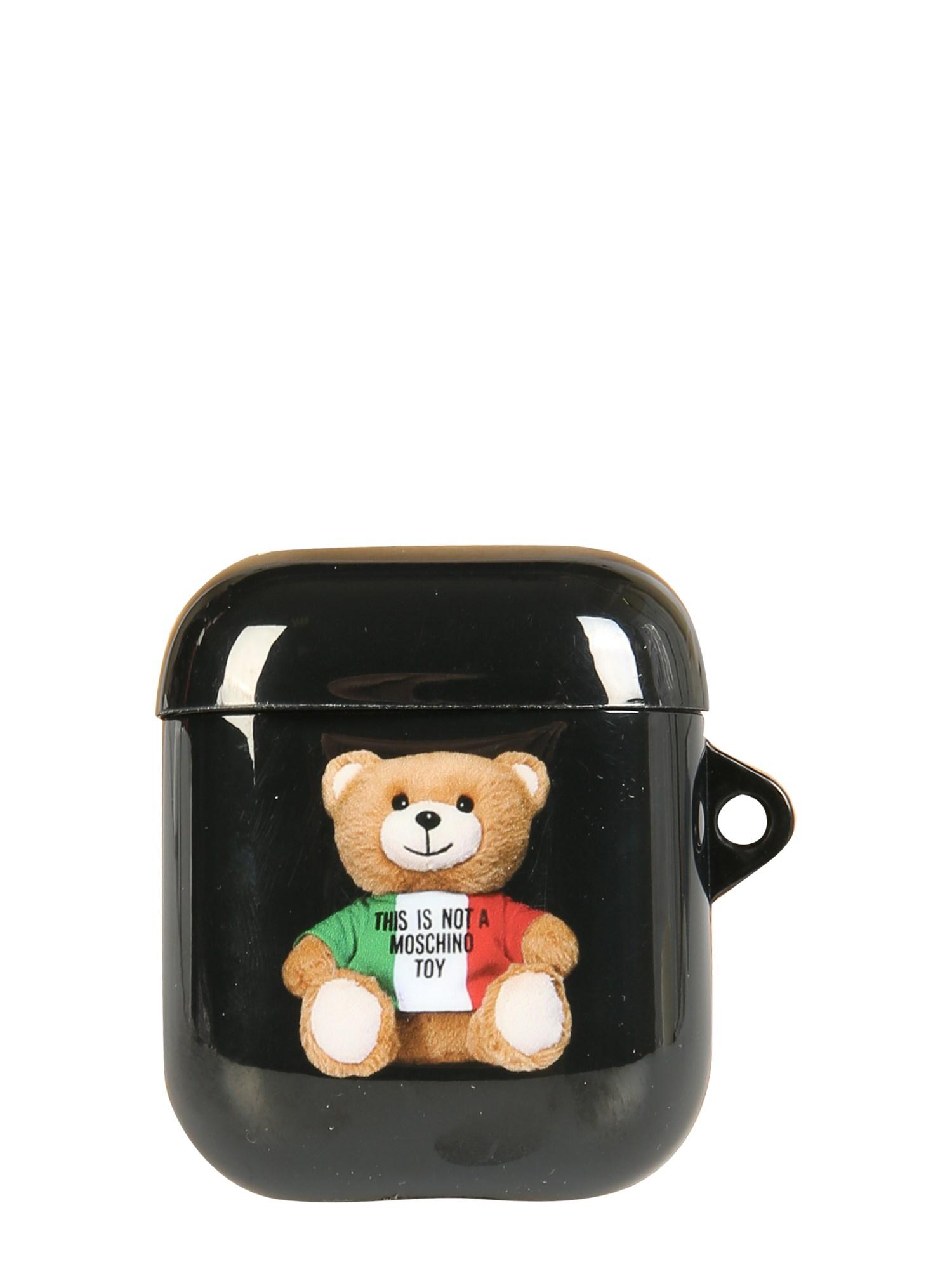 moschino italian teddy bear airpods holder