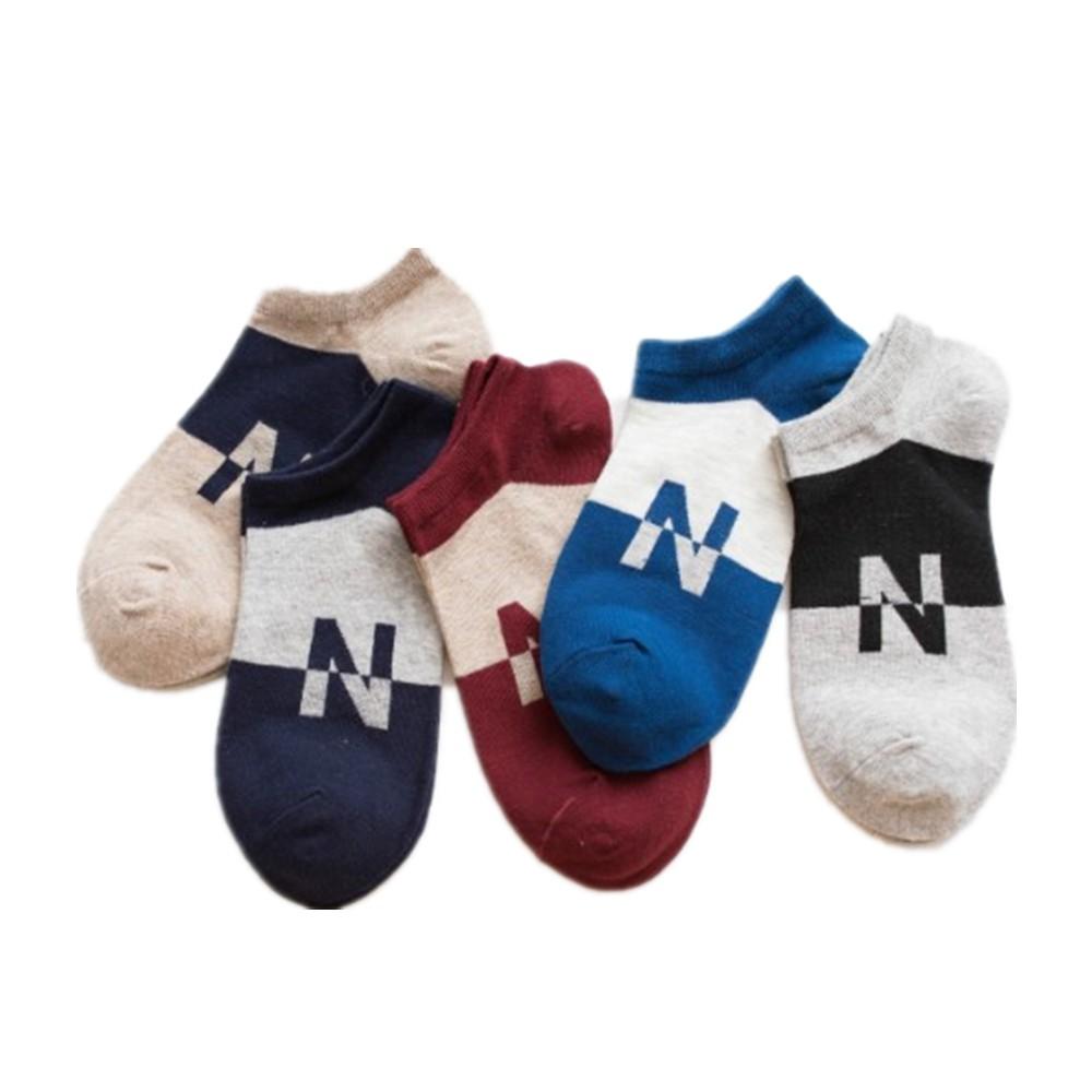 大唐襪業 W198新款N字母淺口男襪隱形襪 短襪全棉男船襪