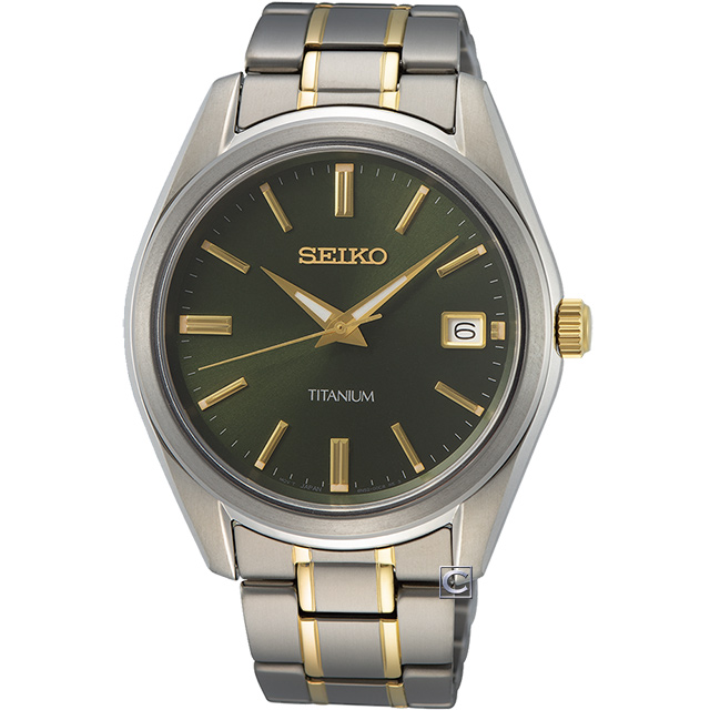 SEIKO 精工 經典簡約鈦金屬時尚男錶(6N52-00B0G) SUR377P1
