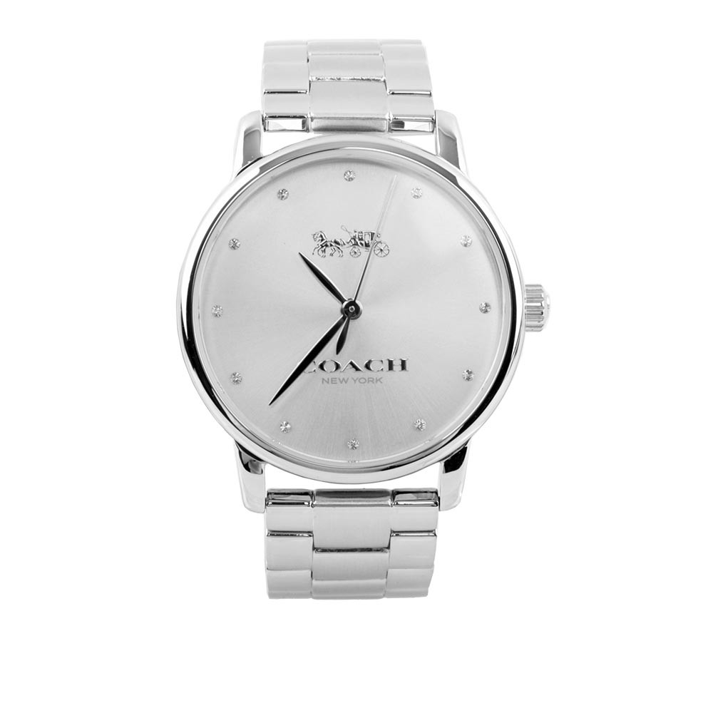 COACH 大款錶盤馬車Logo女錶(銀色) 14502926