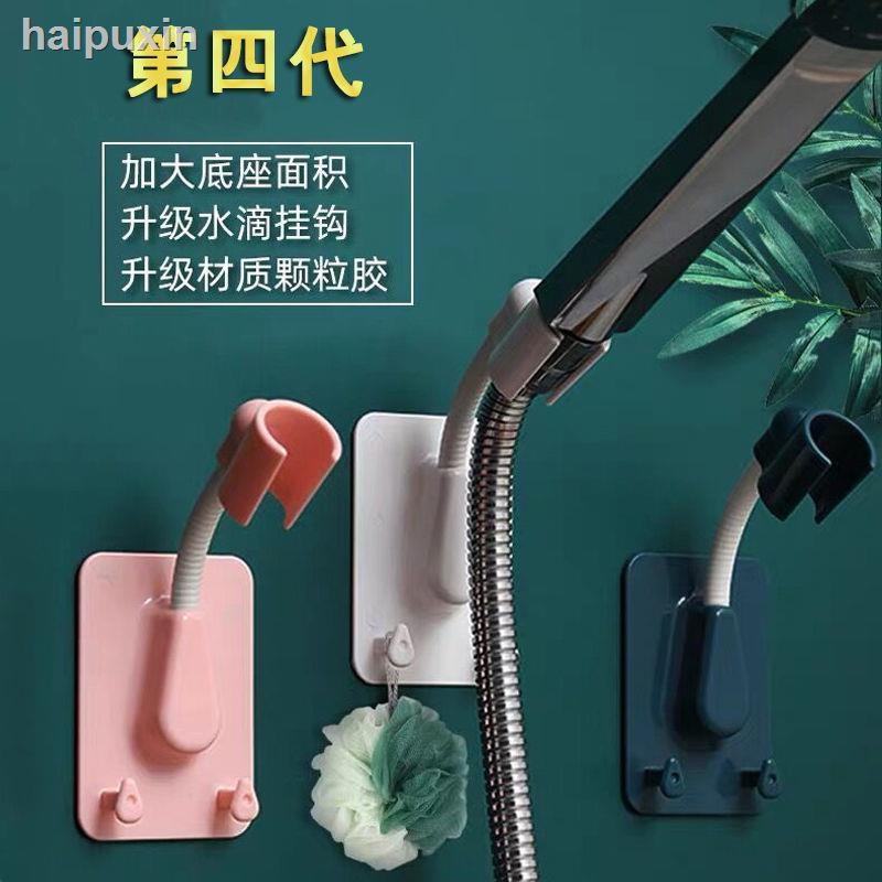 新款 浴室免打孔花灑支架可旋轉貼片式淋浴器噴頭固定器無痕可調節底座