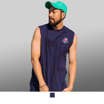 【男人幫】T8049*台灣製造紫色海灘風加大尺碼純棉圖案T恤