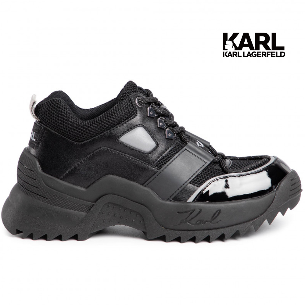 (OUTLET) KARL LAGERFELD 卡爾 老佛爺 鞋 QUEST登山運動老爹鞋-黑  (原廠公司貨)