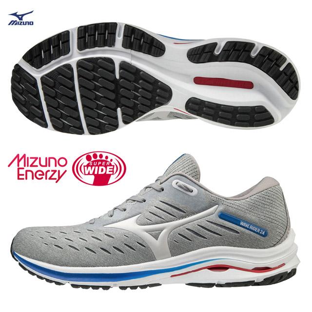 【美津濃MIZUNO】WAVE RIDER 24 SW 超寬楦一般型男款慢跑鞋 J1GC200446