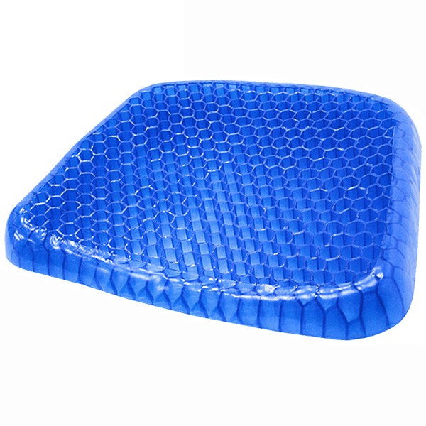 蜂巢式凝膠坐墊(送防塵套).水感凝膠墊.汽車坐墊辦公椅墊子.雞蛋座墊減壓軟墊.冰涼墊透氣靠墊D121-EG01