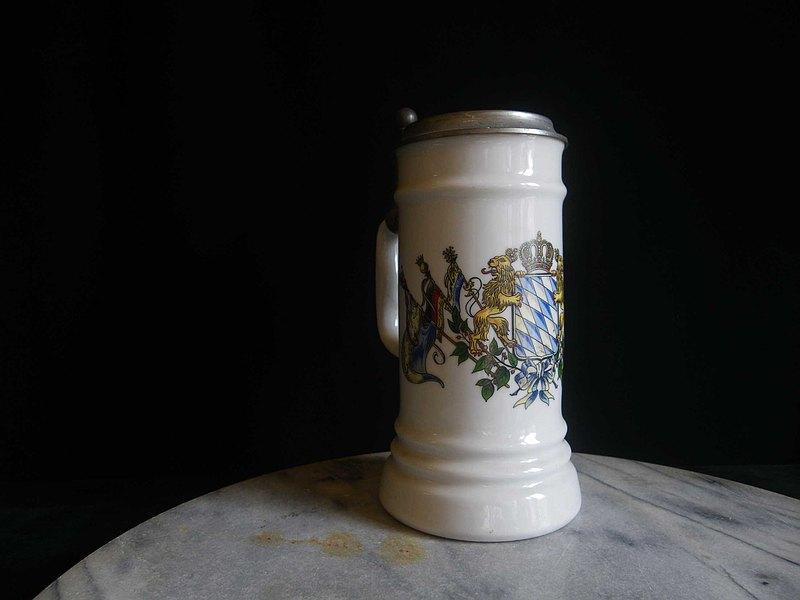 【老時光 OLD-TIME】早期1994年歐洲陶瓷啤酒杯