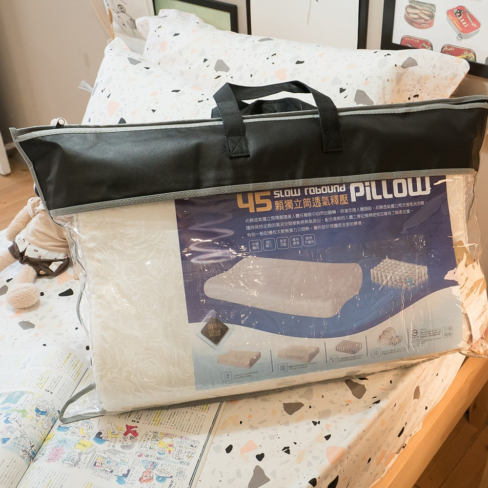記憶棉 獨立筒枕 58X36cm【45顆獨立筒、透氣舒壓】台灣製