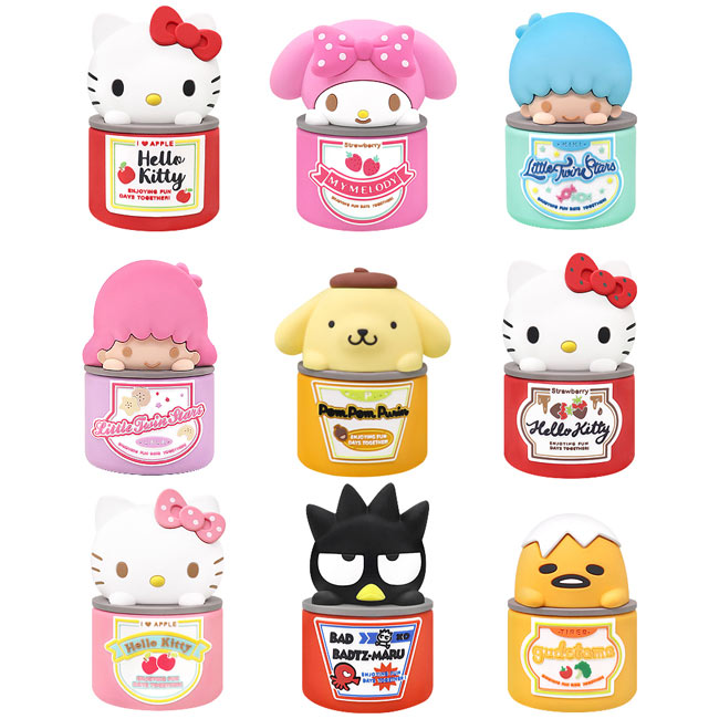GARMMA 三麗鷗 Hello Kitty 果醬系列 盒玩公仔(一套9隻不重複)