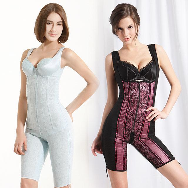 【K's 凱恩絲】水晶網紗系列「*無罩杯*連身大腿1/2款」塑身衣-單件(多國專利認證)