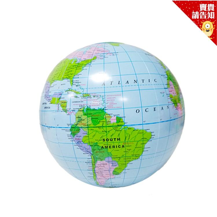 英文版充氣地球沙灘球 英文地球儀 充氣地球儀 地球儀 PVC沙灘球 充氣玩具 沙灘玩具 充氣沙灘球 附發票【賣貴請告知