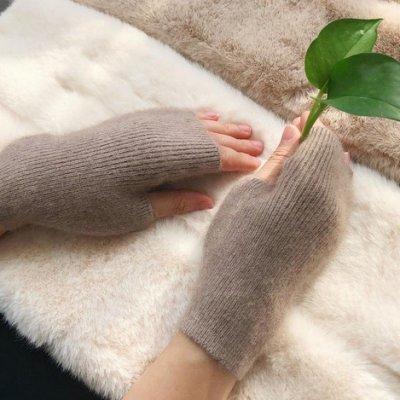 手套 半指手套女冬天可愛女士露指韓版冬季加厚保暖小貂絨半截學生寫字