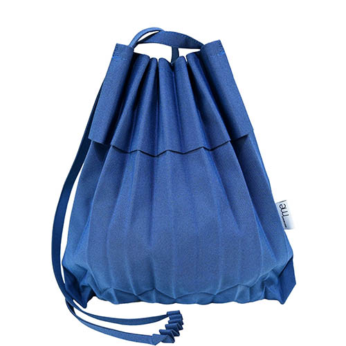 ISSEY MIYAKE 三宅一生 ME系列CHAMBRAY摺疊翻蓋斜背包-藍