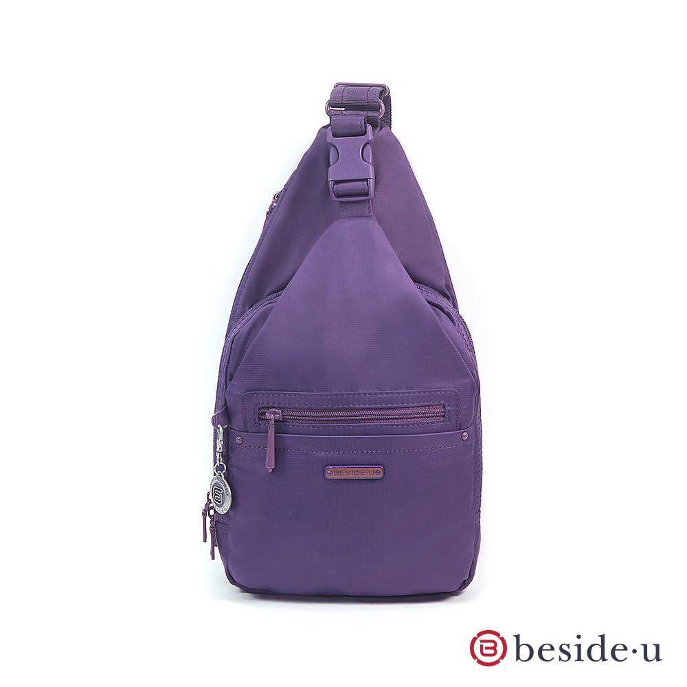 BESIDE U BNU 中性潮流側背包胸包 - 紫色 官方直營