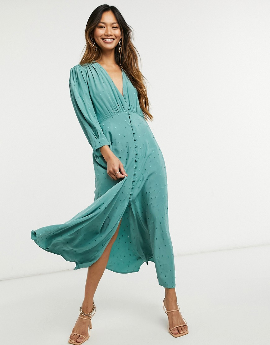 Ghost Maddison dress in green