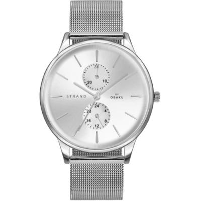 STRAND 丹麥海之星多功能簡約腕錶 / 銀-42mm(S703GMCIMC))