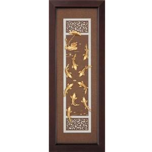 金箔畫 純金 *古典中國風系列*【九如呈祥】...102x38cm外徑38x102cm