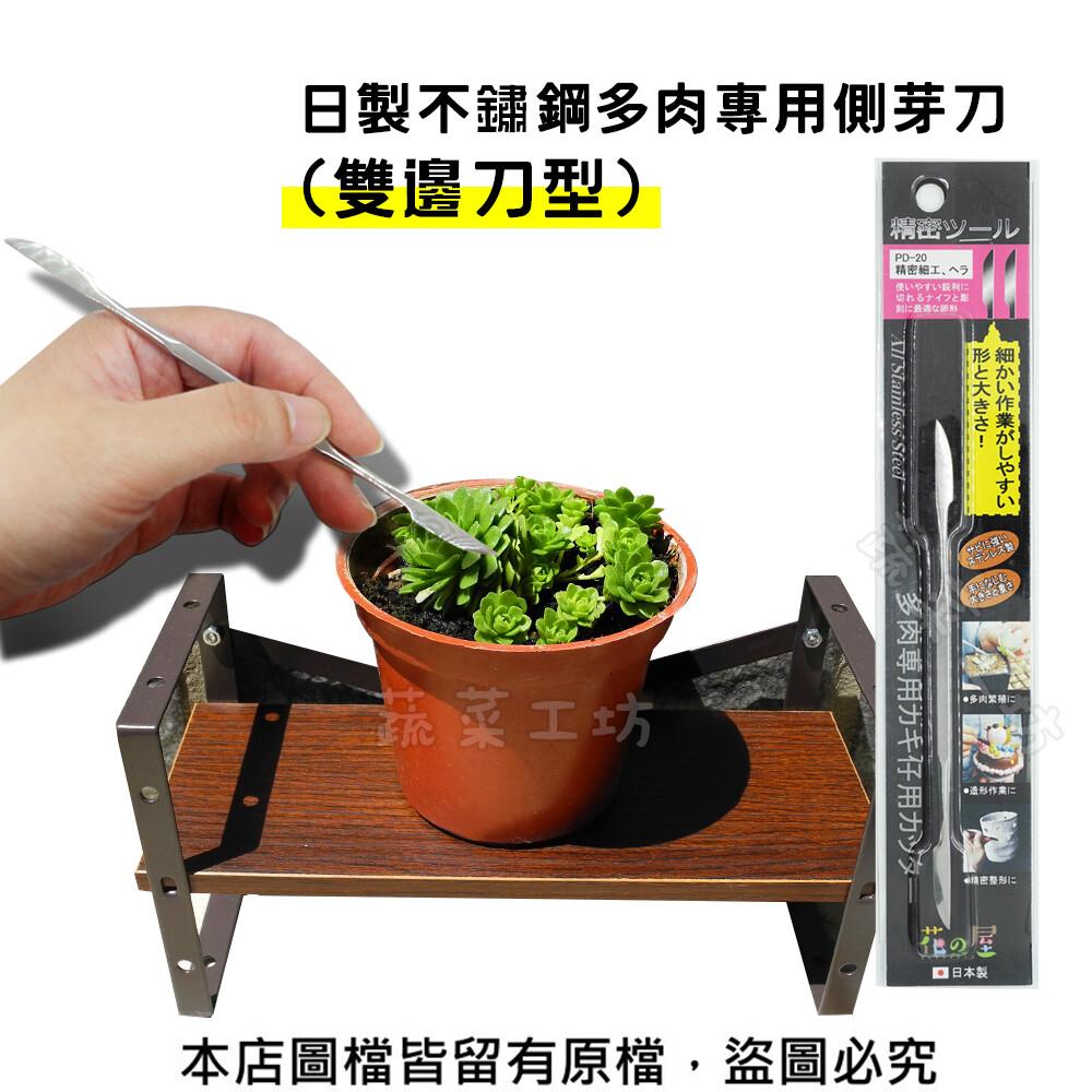 日製不鏽鋼多肉專用側芽刀(雙邊刀型)