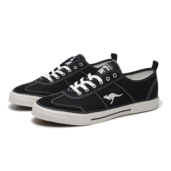 KANGAROOS 休閒鞋 BOSTON 79 黑 黃偉晉 復古 手工帆布鞋 男 (布魯克林) KM11090