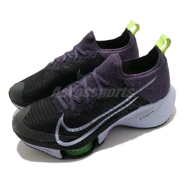 Nike 慢跑鞋 Wmns Air Zoom Tempo Next FK 黑 紫 女鞋 React 泡棉中底 多功能 運動鞋【ACS】 CI9924-500