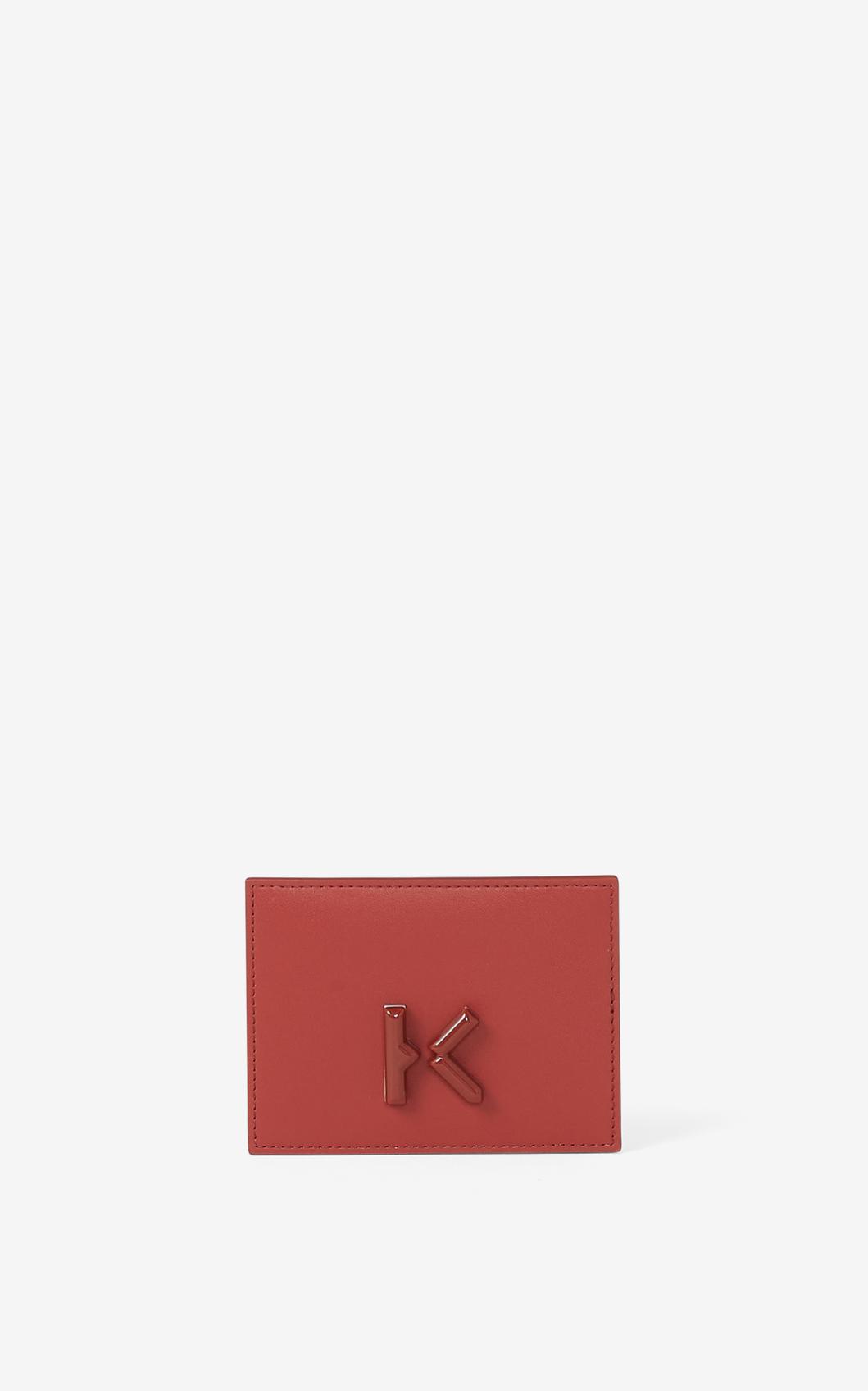 KENZO Porte-cartes KENZO K en cuir