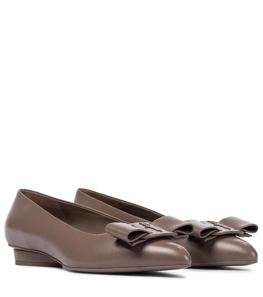 Viva leather ballet flats