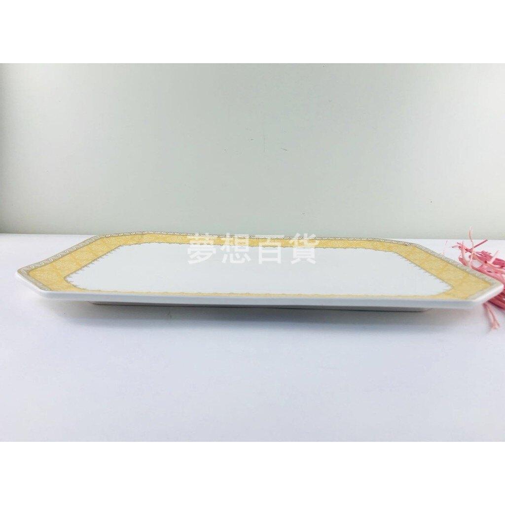 """14""""長方八角盤-皇冠 菜盤 餐盤 大盤 淺盤 沙拉盤 果盤 自助餐盤 餐廳用(伊凡卡百貨)"""
