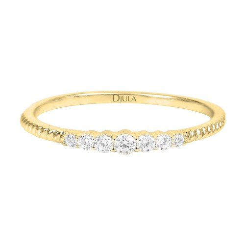 Bague de fiancailles - multi diamants