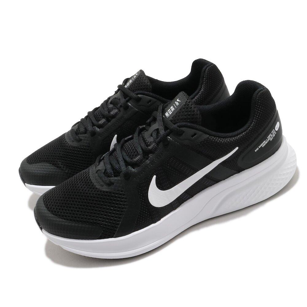 NIKE 慢跑鞋 Run Swift 2 運動 男鞋 輕量 透氣 舒適 避震 路跑 健身 黑 白 [CU3517-004]