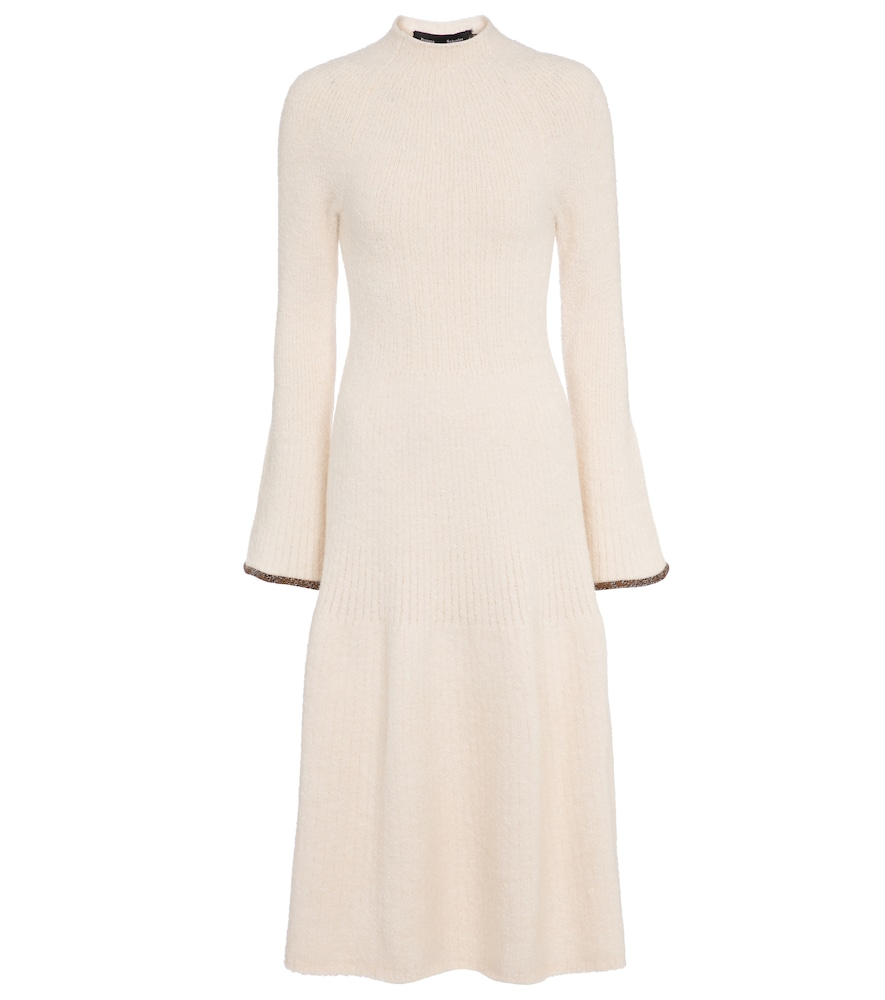 Alpaca and wool-blend midi dress
