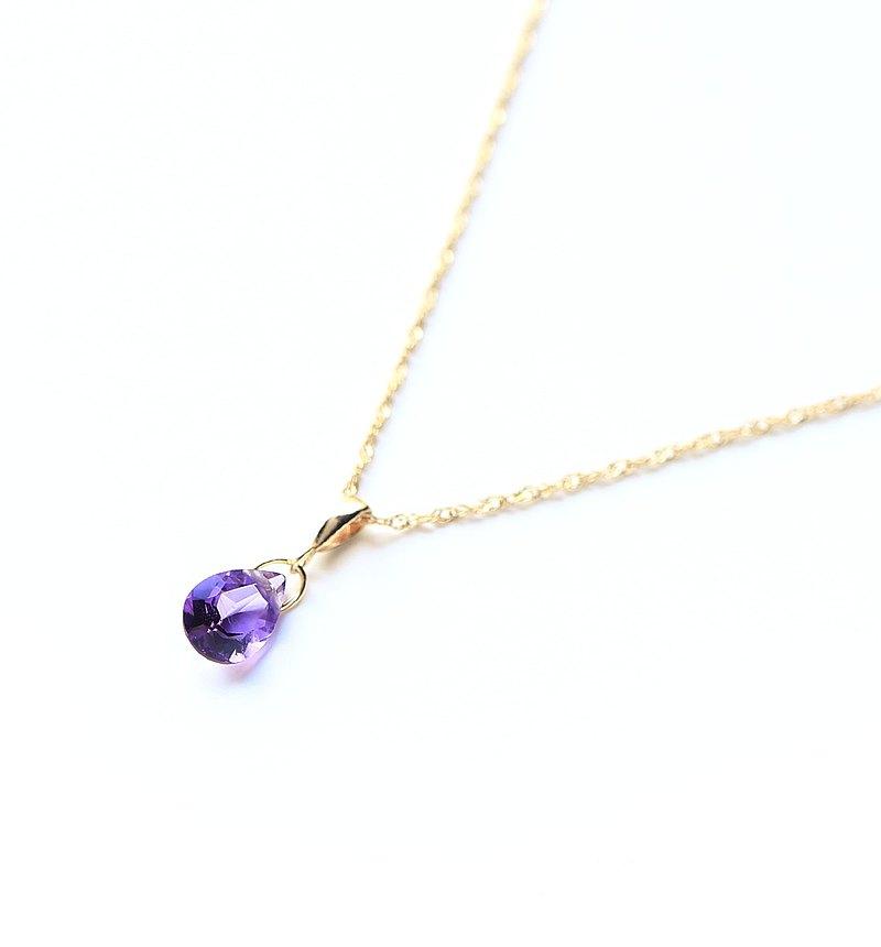 二月Birthstone K10紫水晶(梨形)項鍊吊飾BOURGEON(可以購買鏈條套裝)