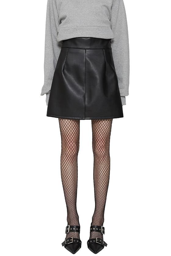 韓國空運 - Klein leather mini skirt 裙子