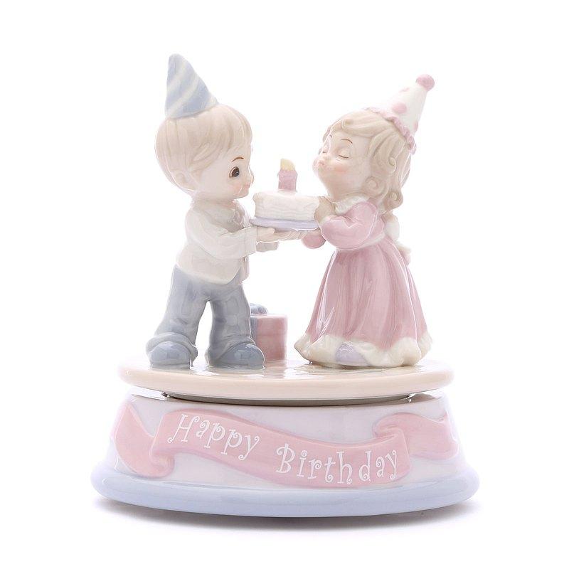 兩小無猜-生日快樂 音樂盒 許願陶瓷生日情人彌月聖誕交換禮物