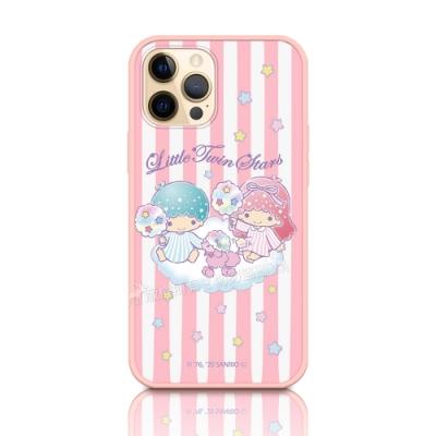 正版授權 Kikilala 雙子星 iPhone 12 / 12 Pro 6.1吋 共用 粉嫩防滑保護殼(彩虹糖)