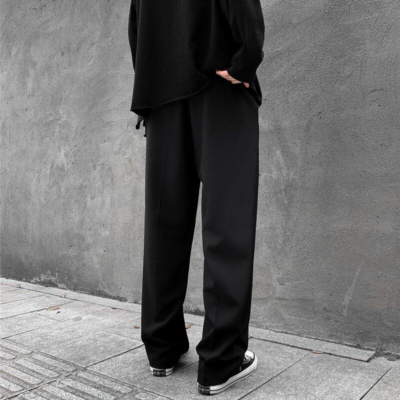 刷毛西褲男 西褲男闊腿直筒寬鬆褲子刷毛休閒長褲垂墜感DK學院製服班服西裝褲【MJ7878】