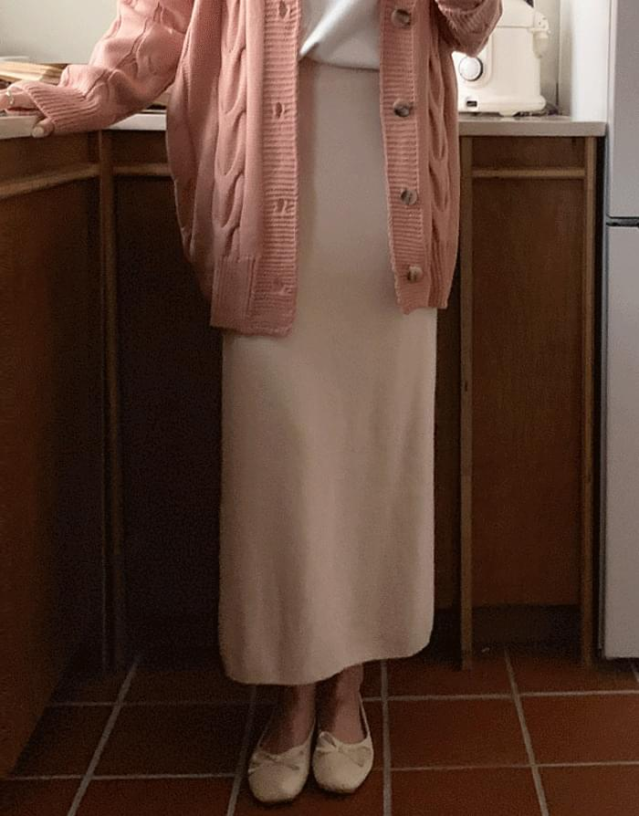 韓國空運 - Chernislit Knitwear Long Skirt 裙子