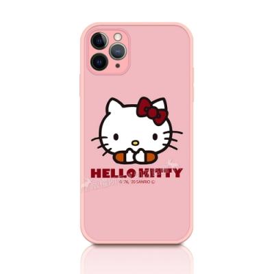 正版授權 Hello Kitty 凱蒂貓 iPhone 11 Pro Max 6.5吋 粉嫩防滑保護殼(經典大頭)