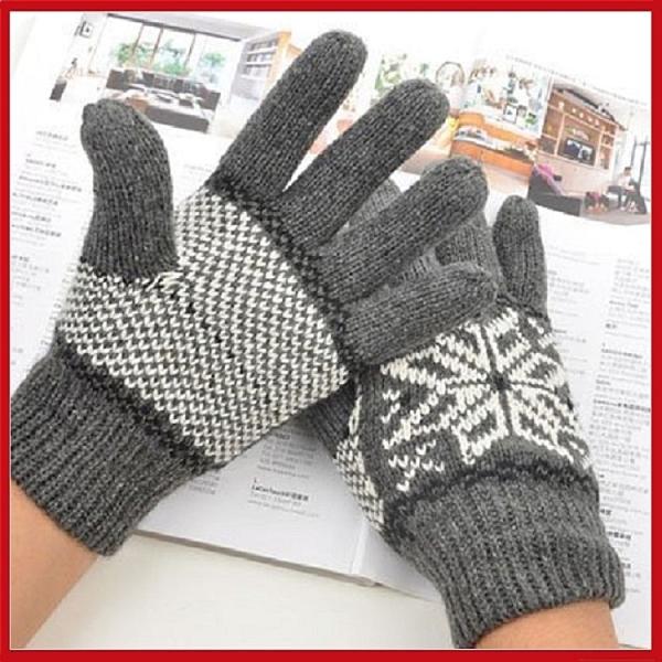 男款雙層雪花五指手套 全指保暖手套(顏色任選)【AF09089】 i-Style居家生活